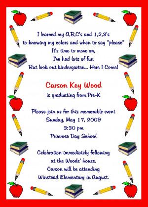 kindergarten graduation invitations template L1O2GIEc