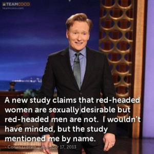 Conan O'Brien Is Used As An Example Of An Unattractive Redhead