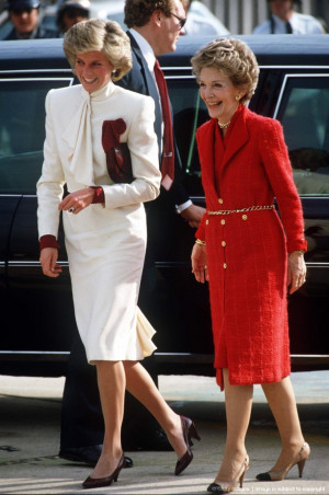 First Lady Nancy Reagan with Princess Diana