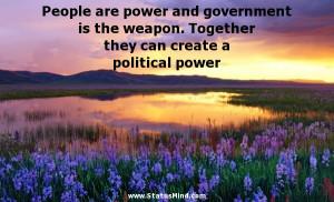 ... can create a political power - Antoine Rivarol Quotes - StatusMind.com