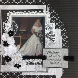 The first layout was made using the Wedding Kit Album...