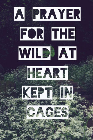 prayer for the wild at heart kept in cages |