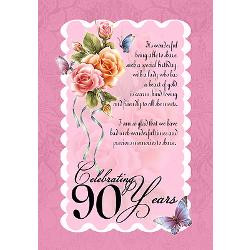 90th_birthday_card_with_roses_and_butterflies.jpg?height=250&width=250 ...