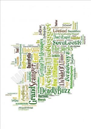 IRISH SAYINGS PRINT Funny Art Ireland Slang by WishWordsGifts, €8.00