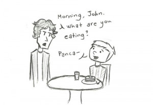 replace sherlock quotes with pancake
