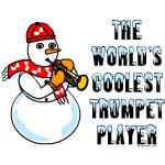 Trumpet Player Snowman Wearing...