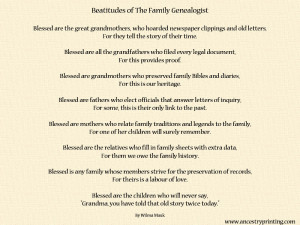 Family Genealogy Sayings