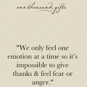 From 'One Thousand Gifts' by Ann Voskamp