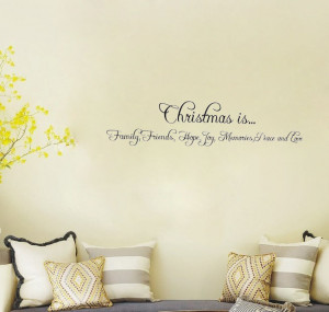 Christmas Holiday Family Friends Hope wall art decals living room ...