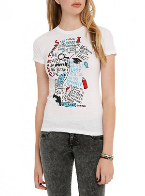 Paper Towns Doodle Quotes Girls T-Shirt SKU : 10392050 ONLINE ...