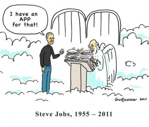 ... thought it was funny and a fitting tribute to Steve Job's life