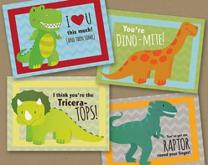 INSTANT DOWNLOAD Printable Classroo m Valentines Dinosaur funny boy ...