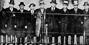 Siegel, Second from Left, with other members of Murder, Inc.