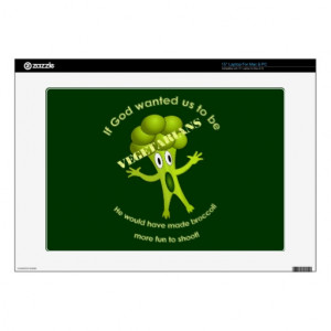 Funny Vegetarian Quote Laptop Skin