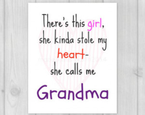 ... Grandma Gift - Grandma Quote - Gift for Grandma - Grandmother Quote