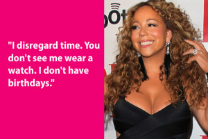 Mariah Carey is the Peter Pan of the pop world. Mimi, for the record ...