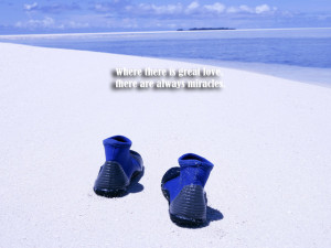 Wallpaper,background,picture,quotes,boots,blue,sea,beach