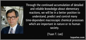 ... macroscopic chemical processes which are important in nature or to
