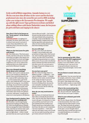 Amanda Latona For Oxygen Magazine Us April 2014 picture