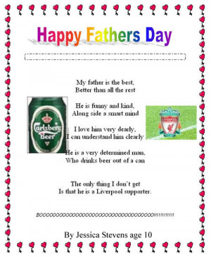 Funny Father's Day Poems 004