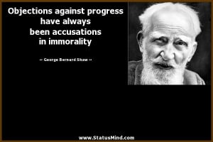 ... in immorality - George Bernard Shaw Quotes - StatusMind.com