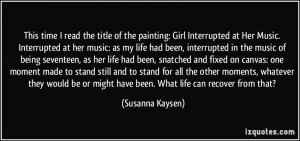 This time I read the title of the painting: Girl Interrupted at Her ...