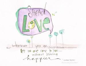 Kids wall art, Mother Teresa quote, girls bedroom art, love art, room ...