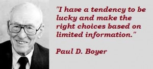 Paul d boyer famous quotes 2