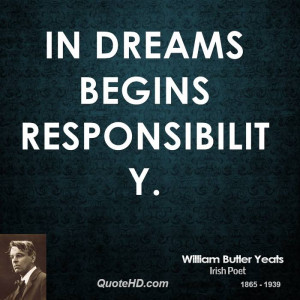 William Butler Yeats Dreams Quotes