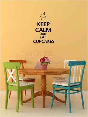 ... cupcakes vinyl wall decals sayings quotes art lettering stickers home