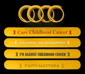 Customized Childhood Cancer Awareness Wristbands for fundraising