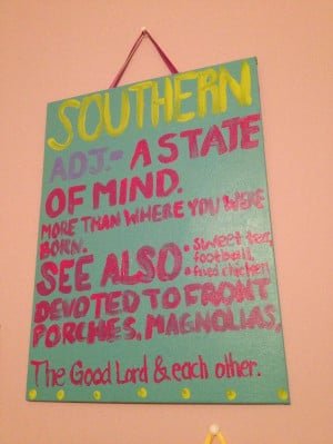 Southern Pride Quotes Southern quote painted canvas