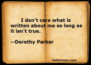 Quote: Dorothy Parker