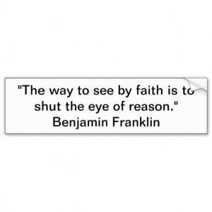 Atheist Bumper Sticker Founding Father Quotes Car Bumper Sticker