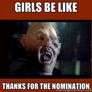sloth girls be like thanks for the nomination meme
