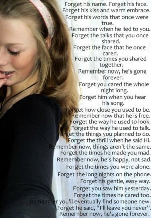 forget him, girl, quotes, remember, typography