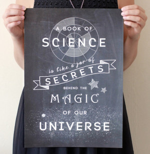 If science truly is a jar of secrets behind the magic of our universe ...