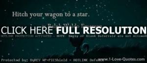 ralph waldo emerson, quotes, sayings, wagon, star