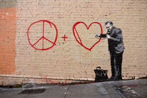 ... Banksy (Banging Your Head Against a Brick Wall). Photo #12 by Banksy