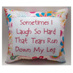 funny cross stitch pillow funny quote pink pillow by needlenosey $ 20 ...