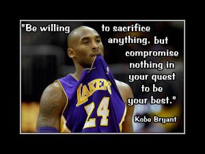 Kobe Bryant LA Lakers Basketball Quote Poster Fan Wall Art Print 5x7 ...