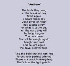 Anthem - Leonard Cohen http://annabelchaffer.com/