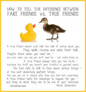 FAKE FRIEND VS TRUE FRIEND