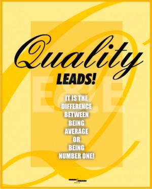 Posters on 'Quality Basics'