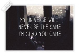 Im glad you came ...