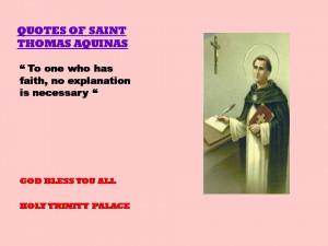 QUOTES OF SAINT THOMAS OF AQUINAS - 15-08-2012