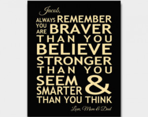 ... Robin Pooh Quote Inspirational Typography Child Parent Gift