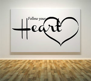 WALL-ART-STICKERS-DECAL-LIVING-ROOM-QUOTES-LOVE-HEART-FOLLOW-YOUR ...