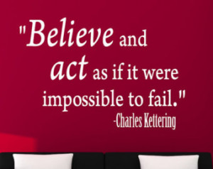 ... Charles Kettering Inspirational Motivational Sports Wall Decal Quote