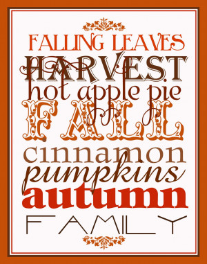 Cute Autumn Sayings Get this fall subway art in